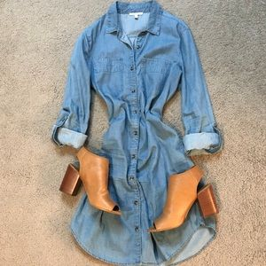 Long sleeve denim dress